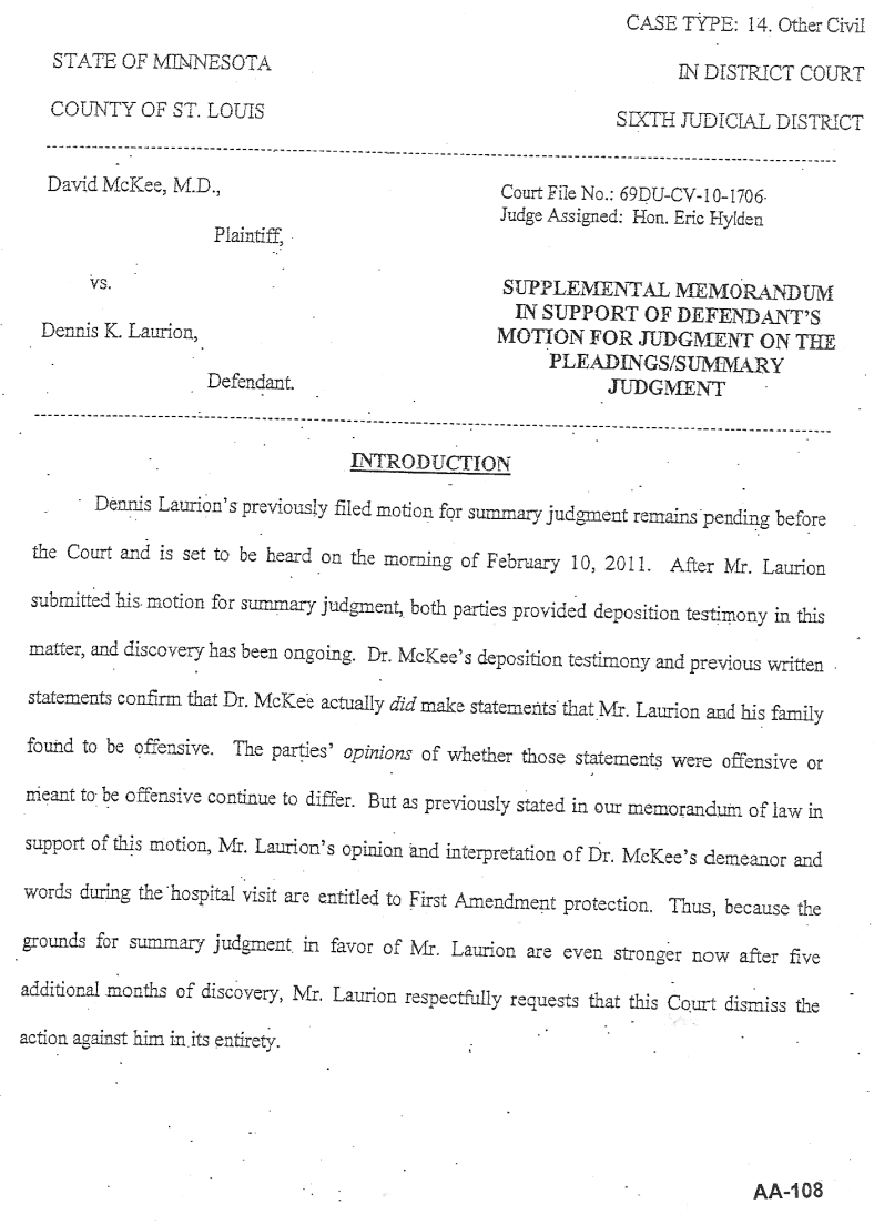 Document-2011-01-31-Laurion-Supplemental-Memo-For-Summary-Judgment-1