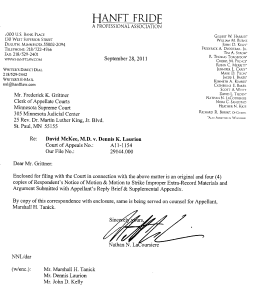Document-2011-10-31-Appellate-Court-Order-To-Strike-Portions-Of-Appellant-Reply-Brief-Request